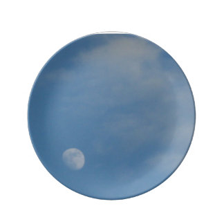 My Daytime Moon - Decorative Porcelain Plate