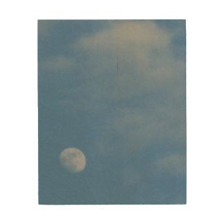 My Daytime Moon - Eco-Friendly WoodSnap Canvas Wood Prints