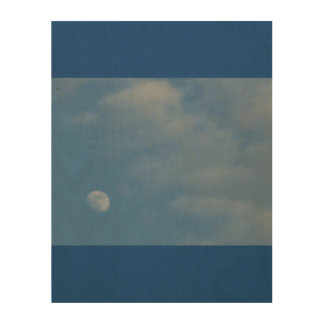 My Daytime Moon - Eco-Friendly WoodSnap Canvas Wood Wall Decor