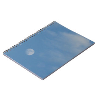 My Daytime Moon - Photo Notebook - 80 Lined Pages