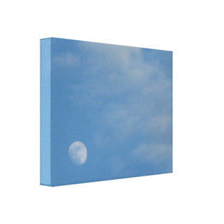My Daytime Moon - Premium Gloss Wrapped Canvas Stretched Canvas Print