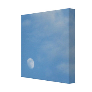 My Daytime Moon - Premium Wrapped Canvas Gloss Stretched Canvas Print