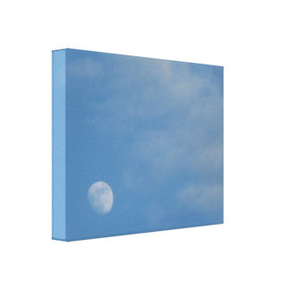 My Daytime Moon - Premium Wrapped Gloss Canvas Canvas Print
