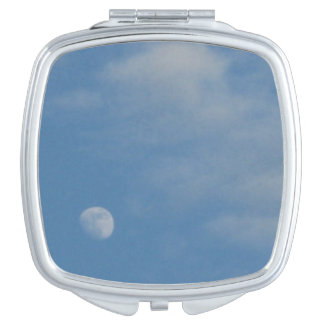 My Daytime Moon - Square Compact Mirror