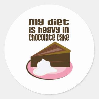 My Diet Is Heavy In Chocolate Classic Round Sticker