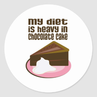 My Diet Is Heavy In Chocolate Round Sticker