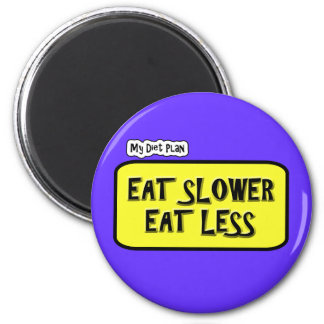 My Diet Plan ... Eat Slower  Eat less Magnet