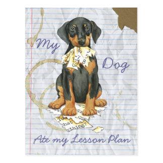 My Doberman Ate My Lesson Plan Postcard