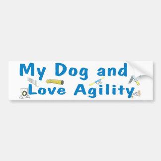 My Dog and I Love Agility Bumper Sticker