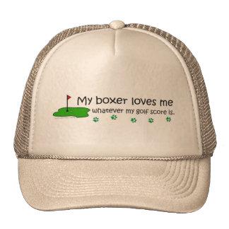 "My ""Dog Breed"" Loves Me Whatever My Golf Score Trucker Hats"