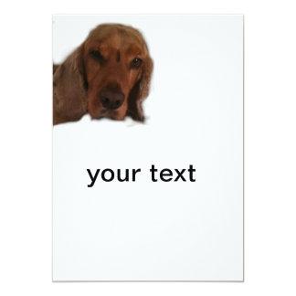 My dog cinnamon  Invitation card