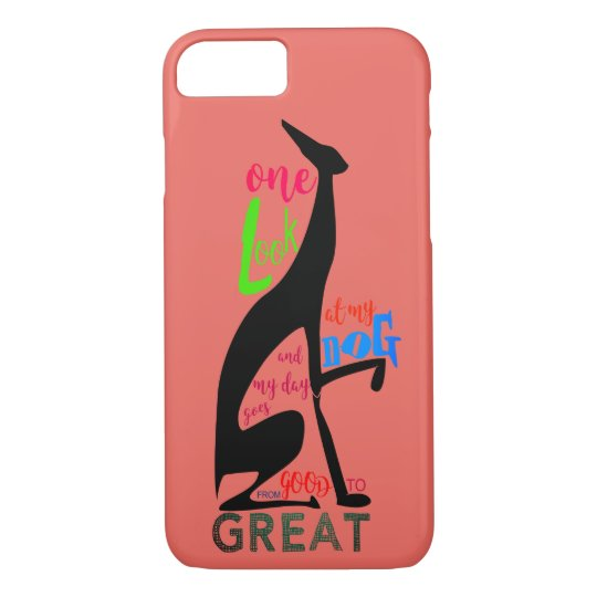 My Dog Greyhound Black Silhouette Elegant Art Deco