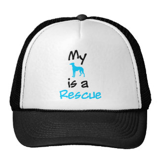 My Dog is a Rescue Hats