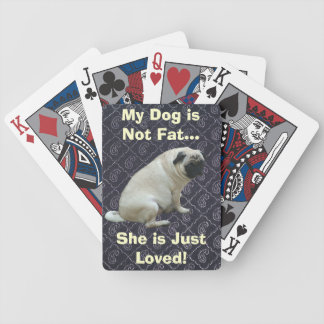 My Dog is Not Fat Pug Poker Deck