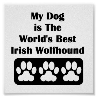 My Dog is The World's Best Irish Wolfhound Poster