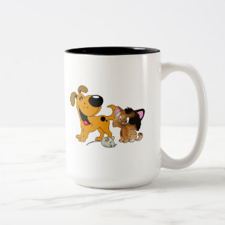 My Dog is TOO Friendly Two-Tone Mug