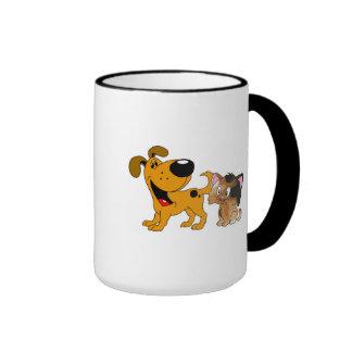 My Dog Loves Cats! Ringer Mug
