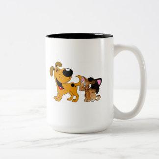 My Dog Loves Cats! Two-Tone Mug