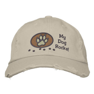 My Dog Rocks Embroidery on Hat Embroidered Hat