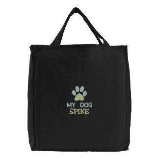 My Dog SPIKE Personalized Custom Dog Name Bags