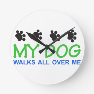 My Dog Walks Wallclocks