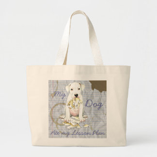 My Dogo Ate My Lesson Plan Large Tote Bag