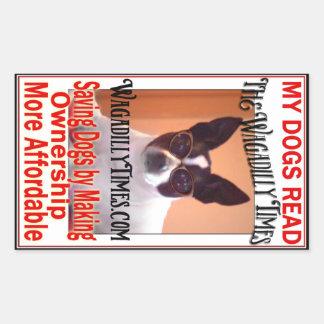 My Dogs Read - Cricket Rectangular Sticker