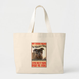 MY DOGS READ DILLY.jpg Tote Bags