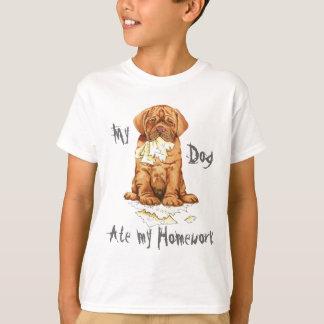 My Dogue de Bordeaux Ate My Homework T-Shirt