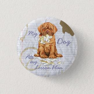 My Dogue de Bordeaux Ate My Lesson Plan 3 Cm Round Badge