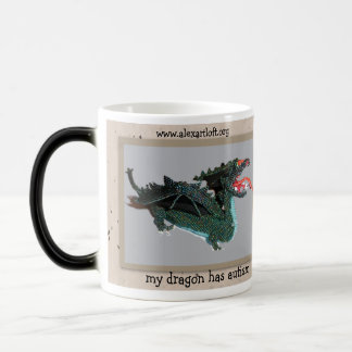 My dragon has autism magic mug