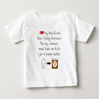My Duck Tolling Retriever Loves Peanut Butter Baby T-Shirt