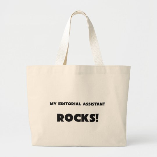 MY Editorial Assistant ROCKS! Large Tote Bag