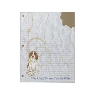My English Springer Spaniel Ate My Lesson Plan Notepads