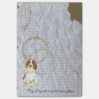 My English Springer Spaniel Ate My Lesson Plan Post-it® Notes