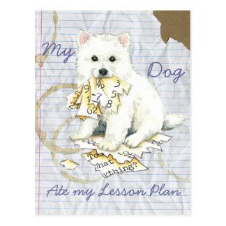 My Eskie Ate My Lesson Plan Postcard