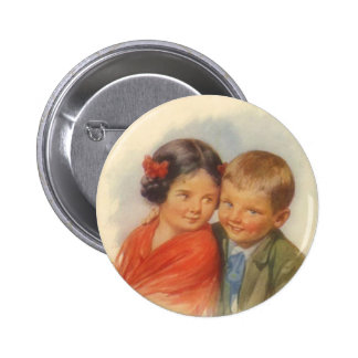My Eyes Adore You Vintage Child Puppy Love Button