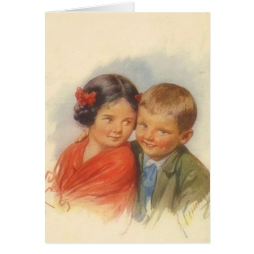 My Eyes Adore You, Vintage Child Puppy Love Card