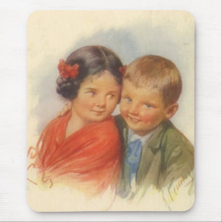 My Eyes Adore You, Vintage Child Puppy Love Mouse Pad