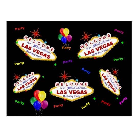 My Fabulous Las Vegas Birthday Party Postcard
