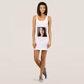 my face sleeveless dress