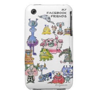 My Facebook Friends Cartoon Monsters iPhone 3 Cases