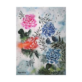 My Fair Roses Watercolor Canvas Print