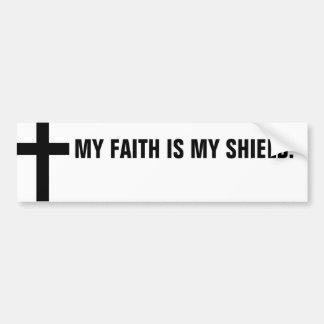 My Faith Is My Shield Bumper Sticker