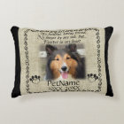 My Faithful Friend Pet Sympathy Custom Burlap Decorative Cushion
