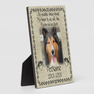 My Faithful Friend Pet Sympathy Custom Burlap Display Plaques