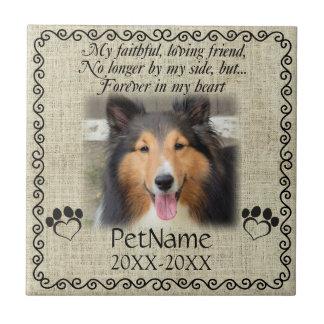 My Faithful Friend Pet Sympathy Custom Burlap Tile