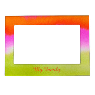 My Family Abstract Watercolor 5x7 Magnetic Frame