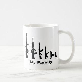 My Family (I Love Guns) Basic White Mug