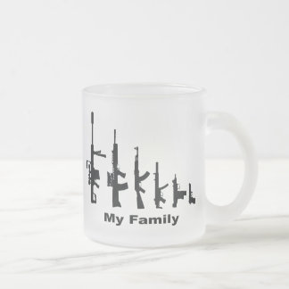 My Family (I Love Guns) Frosted Glass Mug